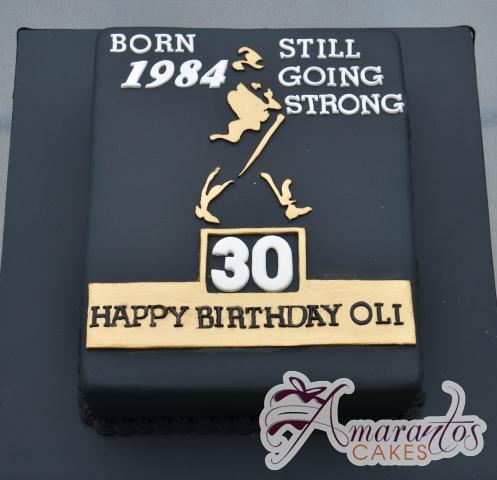 Johnny Walker Logo Cake - Amarantos Designer Cakes Melbourne