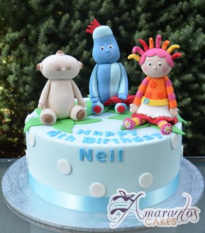 Base With Night Garden Characters Cake - Amarantos Designer Cakes Melbourne