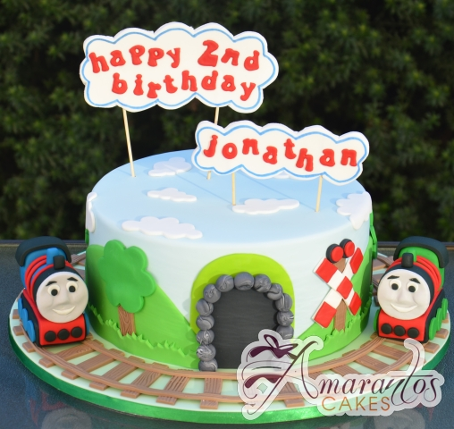 Thomas and Friends Train Cake - Amarantos Designer Cakes Melbourne