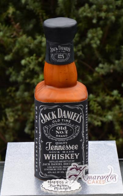 Jack Daniels 3D Bottle- Amarantos Cakes Melbourne