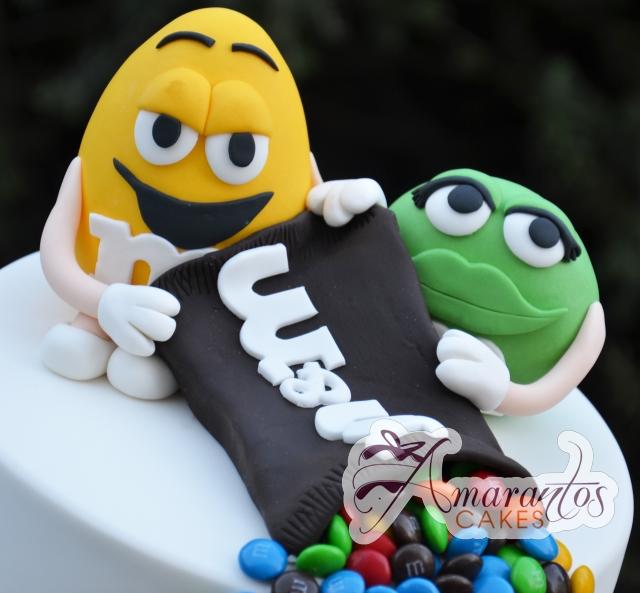 M&M birthday Cake - Amarantos Designer Cakes Melbourne
