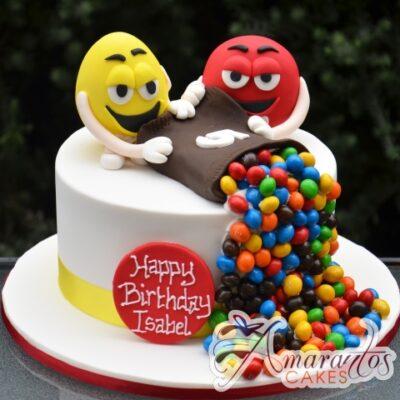 MnMs Birthday Cake 3D - Amarantos Cakes Melbourne