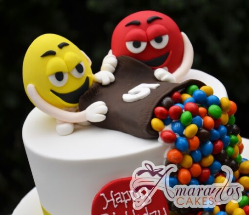 MnM Birthday Cake 3D - Amarantos Cakes Melbourne