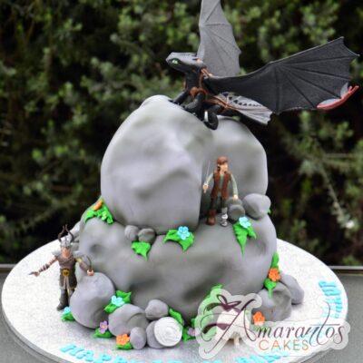 Two tier how to train your dragon - Amarantos Designer Cakes Melbourne
