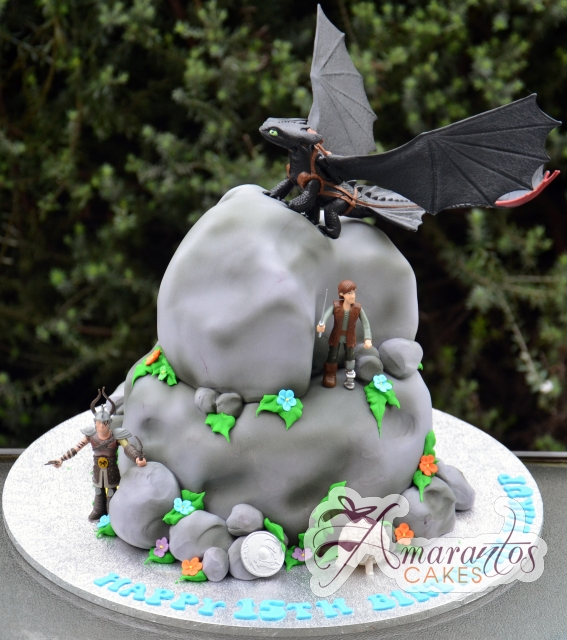 Two tier how to train your dragon - Amarantos Designer Cakes Melbourne