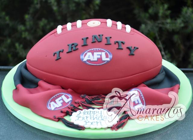 3D Football Cake - Amarantos Designer Cakes Melbourne