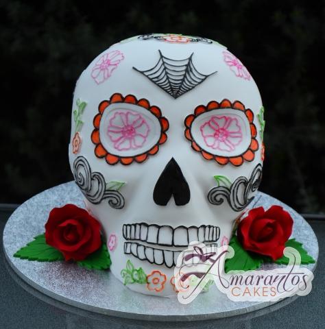 3D Mexican Skull Cake - Amarantos Designer Cakes Melbourne