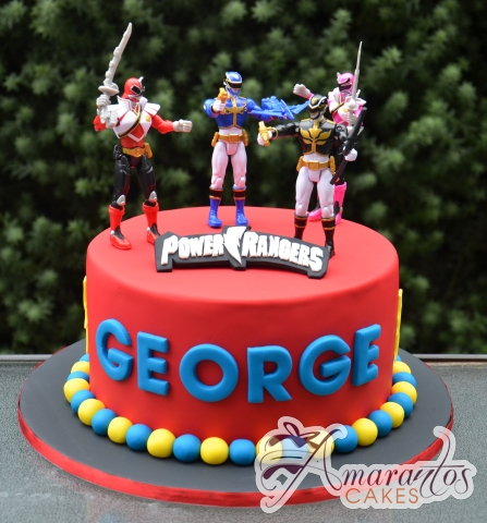 Power Rangers Cake - Amarantos Designer Cakes Melbourne