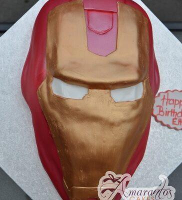 Ironman Head Cake - Amarantos Custom Made Cakes Melbourne