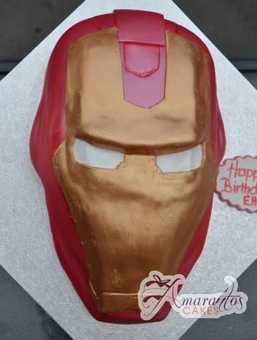 Ironman Head Cake - Amarantos Custom Made Cakes Melbourne