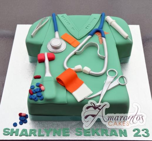 Doctos Scrubs Cake - Amarantos Designer Cakes Melbourne