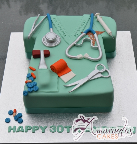 Doctors Scrub Cake - Amarantos Designer Cakes Melbourne