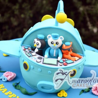 3D Octonauts Ship Cake - Amarantos Celebration Cakes Melbourne