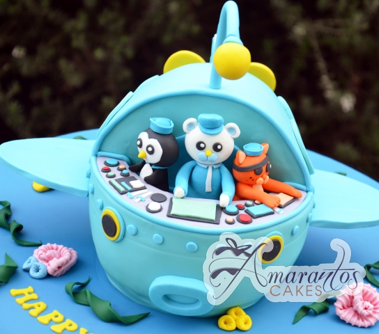 3D Octonauts Ship Cake - Amarantos Celebration Cakes Melbourne
