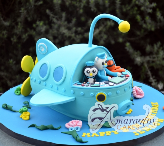 3D Octonauts Ship Cake - Amarantos Custom Design Cakes Melbourne
