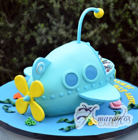 3D Octonauts Ship Cake - Amarantos Custom Made Cakes Melbourne