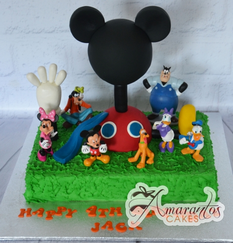 Mickey Club House Cake - Amarantos Designer Cakes Melbourne