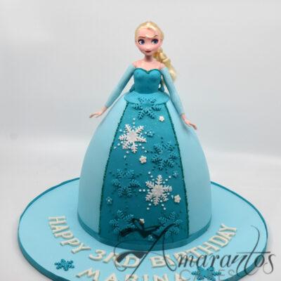 Elsa Frozen birthday cake - Amarantos Designer Cakes Melbourne