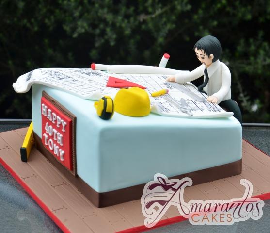 Architects Cake - Amarantos Designer Cakes Melbourne