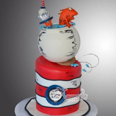 Dr Suess Cat in the Hat Cake Amarantos Cakes Melbourne