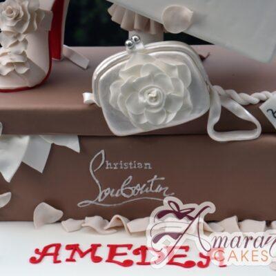 Designer Shoe Box and Show Cake - Amarantos Custom Made Cakes Melbourne