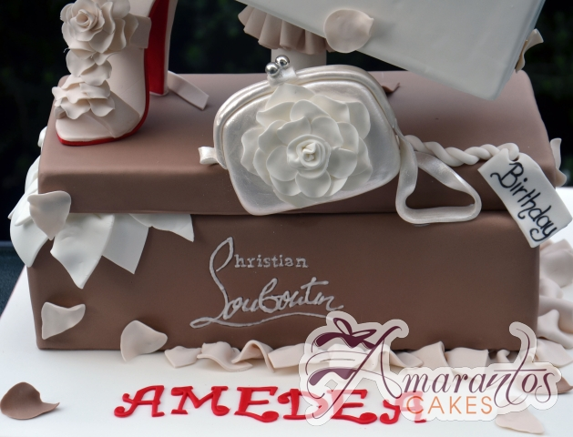 Designer Shoe Box and Show Cake - Amarantos Custom Made Cakes Melbourne