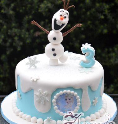 Olaf Birthday Cake - NC626 - Amarantos 1st Birthday Cakes Melbourne