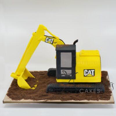 3D Excavator Cake - NC630 - Amarantos Cakes