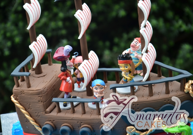 3D Pirate Ship with Jake the Pirate Cake - Amarantos Designer Cakes Melbourne