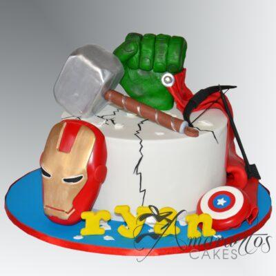 Avengers Cakes - NC634 - Amarantos Cakes