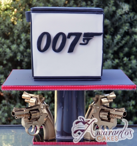 Two Tier James Bond Cake - Amarantos Birthday Cakes Melbourne