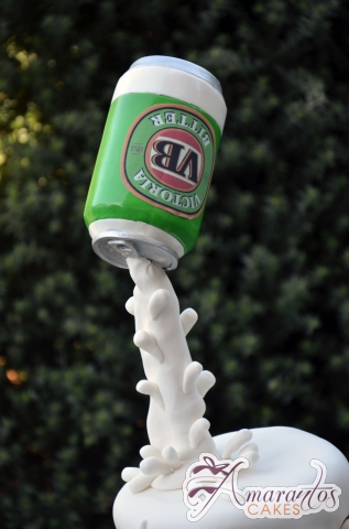 Stein of Beer and Can Cake - Amarantos Designer Cakes Melbourne