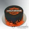 Harley Davidson Logo Cake NC640