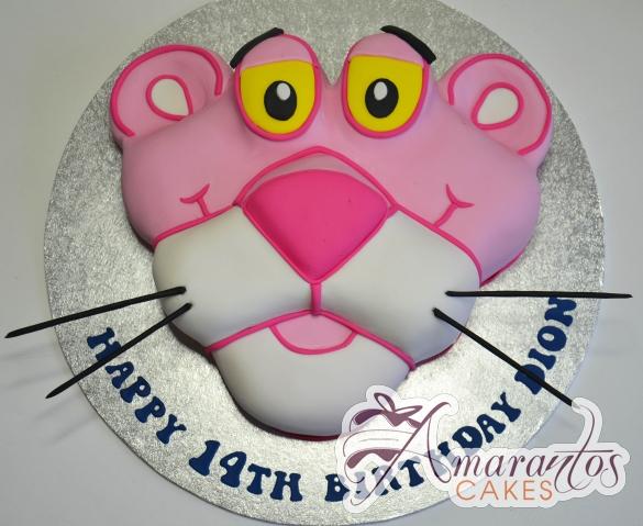 2D Pink Panther Cake - Amarantos Designer Cakes Melbourne