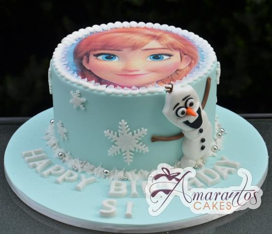 Elsa Frozen Birthday Cake - Amarantos Melbourne Cakes