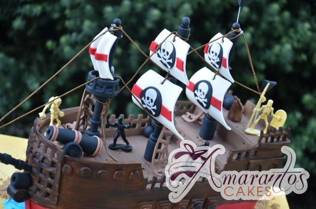 Pirate Ship 3D Cake - Amarantos Designer Cakes Melbourne