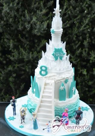 Two tier Frozen Castle Cake – NC667