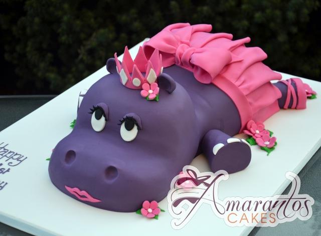 3D Hippo Cake -- Amarantos Designer Cakes Melbourne