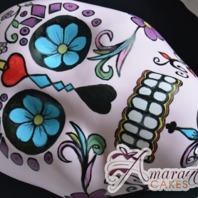 Day of the Dead Mexican Skull - Amarantos Cakes Melbourne