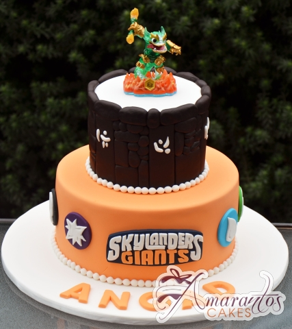 Two tier Skylander Cake - NC681 - Amarantos Celebration Cakes Melbourne