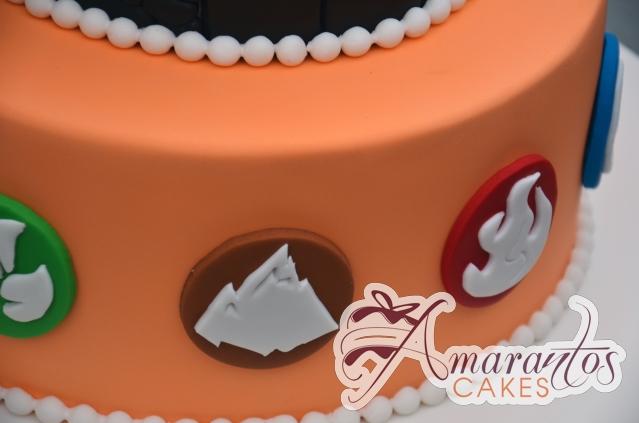 Two Tier Skylander Cake - Amarantos Cakes Melbourne