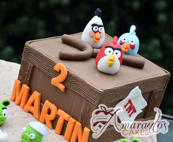 Angry Birds cake - NC687 - Speciality Amarantos Cakes Melbourne