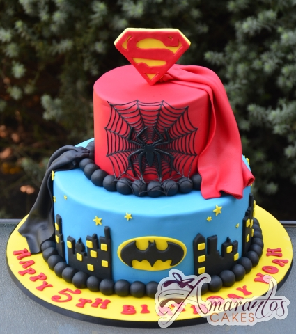 Super hero cake - NC695 - Amarantos Celebration Cakes Melbourne