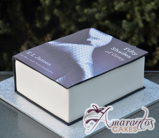 Fifty Shades of Grey Book Cake - Amarantos Designer Cakes Melbourne