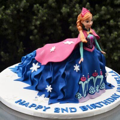 Anna Doll Cake - Amarantos Custom Made Cakes Melbourne