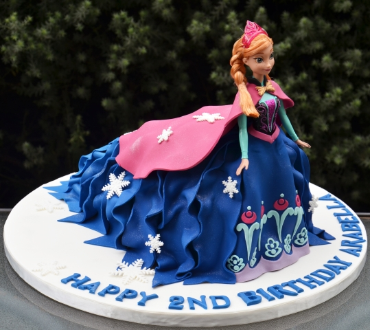 Anna Doll Cake - Amarantos Custom Made Cakes Melbourne