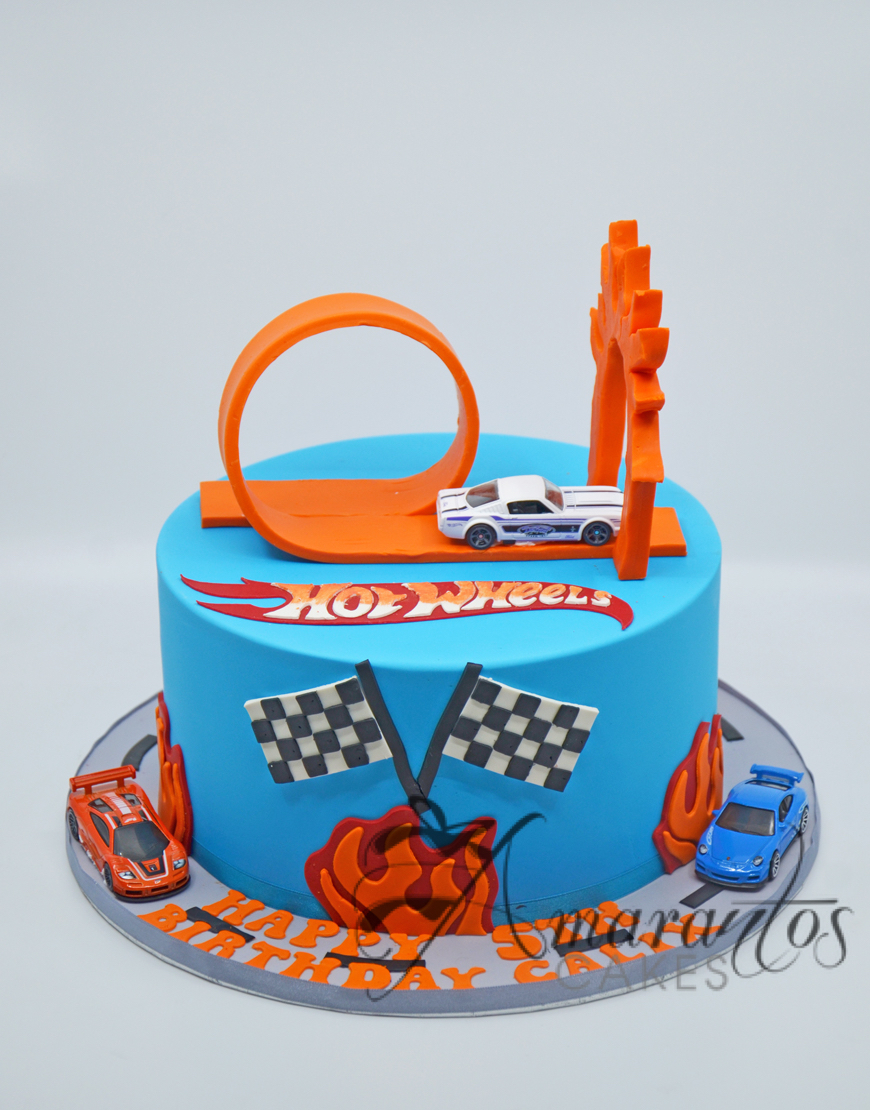 Hot Wheels Themed cake Amarantos Cakes Melbourne