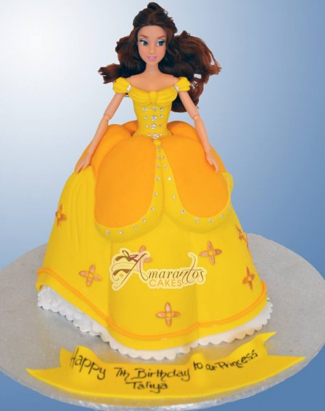 Princess Belle - NC768 - Amarantos Celebration Cakes Melbourne