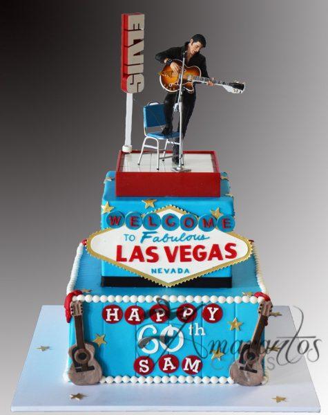 Two tier Las Vegas Cake - NC780 - Celebration Cakes Melbourne - Amarantos Cakes