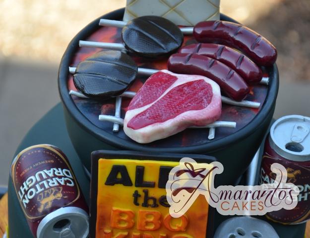 BBQ Beer Two tier Cake - Amarantos Designer Cakes Melbourne